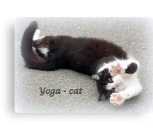 Yoga - Cat Canvas Print