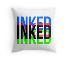 Inked - Multicolor Throw Pillow