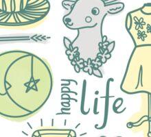 Yay! Happy Life  Sticker