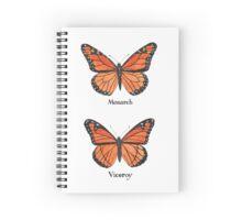 Monarch vs Viceroy Butterfly  Spiral Notebook