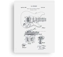 Fender Guitar Tremolo Patent 1956  Canvas Print