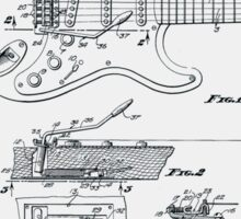 Fender Guitar Tremolo Patent 1956  Sticker