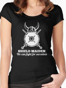 Shield Maiden - We can fight for ourselves Women's Fitted Scoop T-Shirt