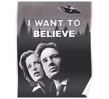Original Charcoal Drawing of X Files I Want to Believe Poster