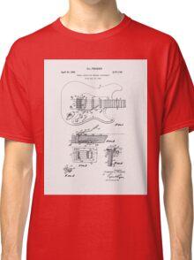 Fender Guitar Tremolo Patent 1956  Classic T-Shirt