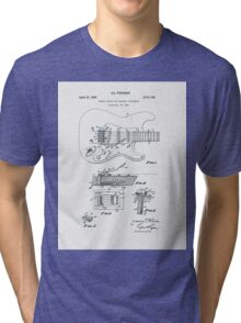 Fender Guitar Tremolo Patent 1956  Tri-blend T-Shirt