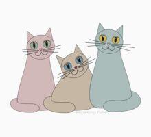 THREE HAPPY CATS One Piece - Short Sleeve