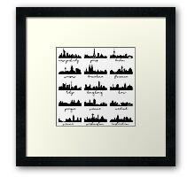 World's skylines Framed Print