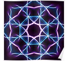 Neon Lights Mandala v.3 Poster