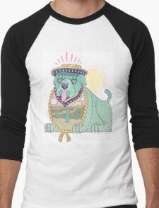 Hot Dog Men's Baseball ¾ T-Shirt