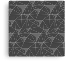 simple pattern of triangles , which are connected to each other filaments are connected to each other , executed in shades of gray, on transparent background Canvas Print