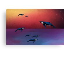 Flying Whales  Canvas Print
