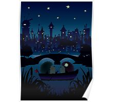 Hedgehogs in the night Poster