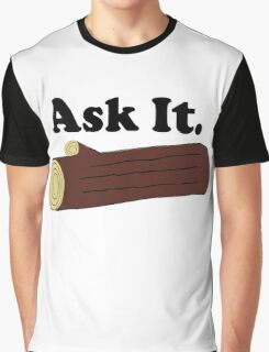 Ask It Log Lady Twin Peaks Graphic T-Shirt