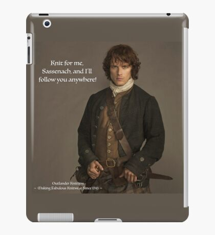 Knit for me Sassenach iPad Case/Skin