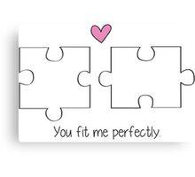 Puzzle Love Canvas Print