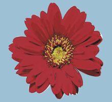 Red Flower One Piece - Short Sleeve