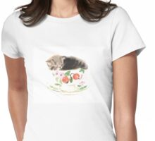 Kitten Womens Fitted T-Shirt