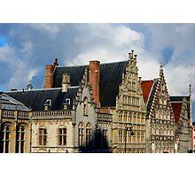 Rooftops in Gent, Belgium Photographic Print