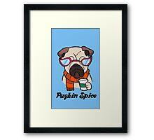 Pugkin Spice Framed Print