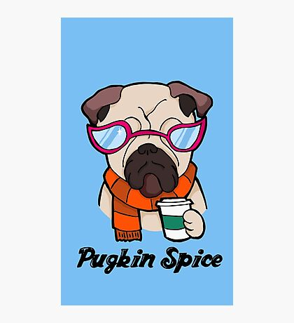 Pugkin Spice Photographic Print