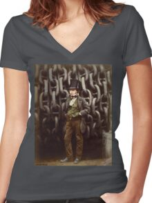 ISAMBARD KINGDOM BRUNEL 1857 Women's Fitted V-Neck T-Shirt
