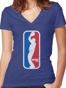 Ballin' Bernie Women's Fitted V-Neck T-Shirt