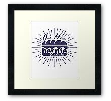 Bernie Sandwich in Navy Framed Print