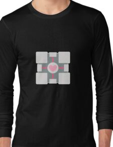 Companion Cube - Portal Long Sleeve T-Shirt