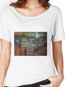 Time is but a stream quote by Henry David Thoreau Women's Relaxed Fit T-Shirt