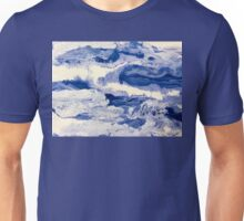 Ocean Waves on Textured Paper Abstract Unisex T-Shirt