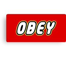 Obey Canvas Print