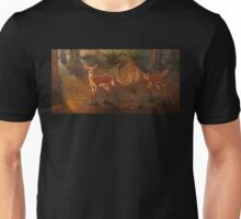 Fawns in the forest Unisex T-Shirt