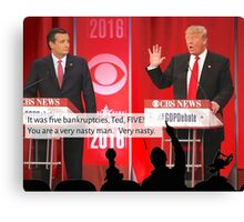 Republican Debate Mystery Science Theater 3000 Mashup Canvas Print