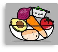 Fruit and Vegetable Bowl Canvas Print