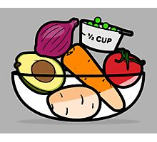 Fruit and Vegetable Bowl Photographic Print