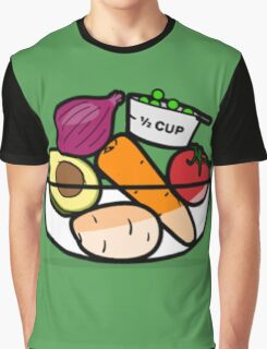 Fruit and Vegetable Bowl Graphic T-Shirt