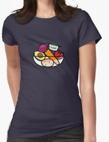 Fruit and Vegetable Bowl Womens Fitted T-Shirt