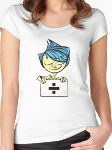 Joy will tear us apart.... Women's Fitted Scoop T-Shirt