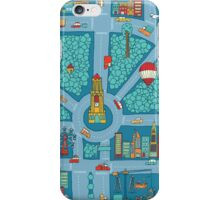 Complex busy cute city map iPhone Case/Skin