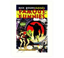 Retro Golden Age Classic Famous Funnies Cover 213 Art Print