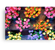 Artifical tulips Canvas Print