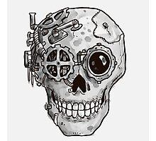 Steampunk Skull Photographic Print