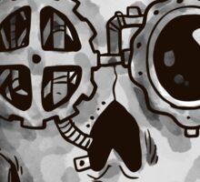 Steampunk Skull Sticker