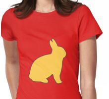 Gold Easter Bunny Womens Fitted T-Shirt