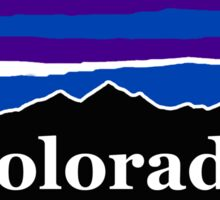 Colorado Midnight Mountains Sticker