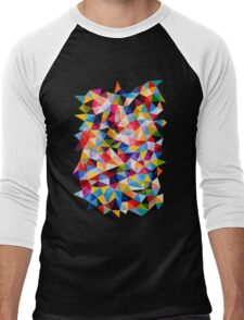 Space Shapes Men's Baseball ¾ T-Shirt