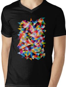 Space Shapes Mens V-Neck T-Shirt