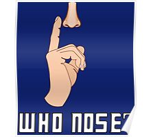 Doctor Who - Who Nose?  Poster