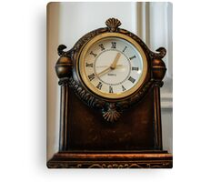 Old Clock On the Mantel Canvas Print